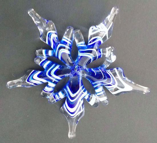 Snowflake Ornament, dark blue
